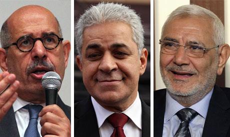 El-Baradei, Sabahi and Abul-Fotouh