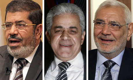 Morsi, Sabbahi and Abul-Fotouh