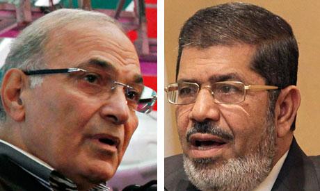 Ahmed Shafiq and Mohamed Morsi