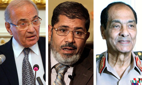 Shafiq, Morsi and Tantawi