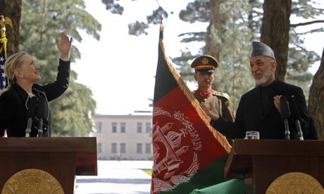 Clinton & Karzai