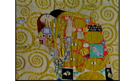 detail: Stoclet Frieze, Klimt, photo from a documentary about Klimt (YouTube)