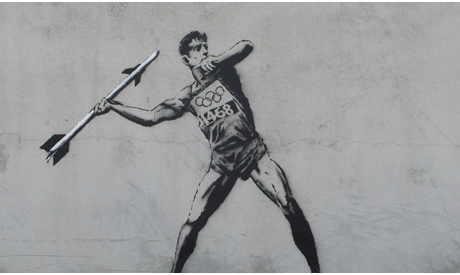 """Hackney Welcomes the Olympics"" - source: Banksy"