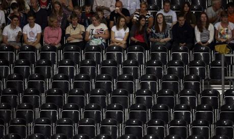 Olympic empty seats