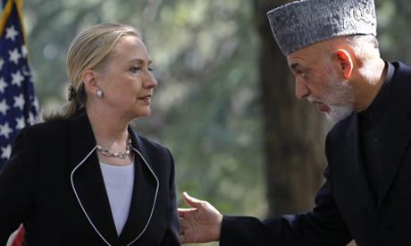 Karzai, Clinton