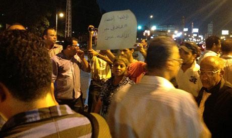 koptische Maspero-Demonstranten vor Präsidentenpalast