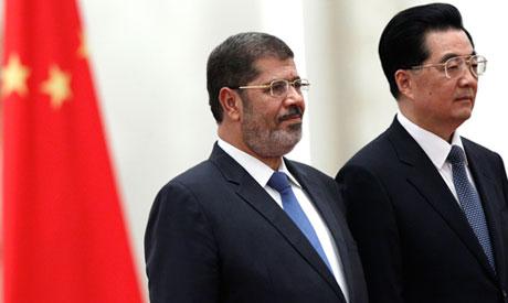 Morsi and Hu Jintao