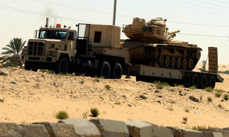 An Egyptian army truck
