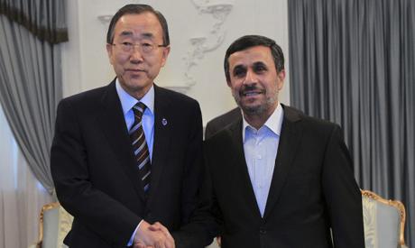 Ahmadinejad and Ban Ki-Moon