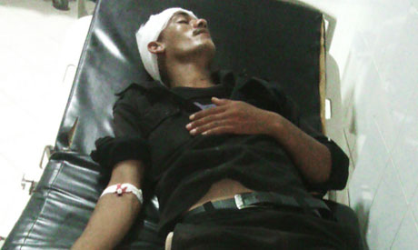 Egyptian wounded soldier