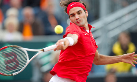 Tennis: Federer, Swiss lead Netherlands 2-0 in Davis Cup