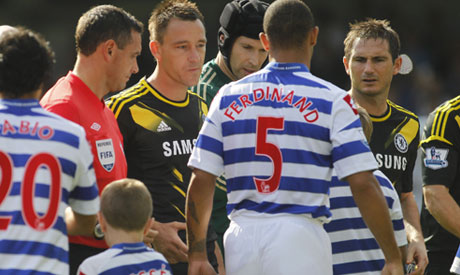 Ferdinand snubs Chelsea duoTerry and Cole in pre-match handshake