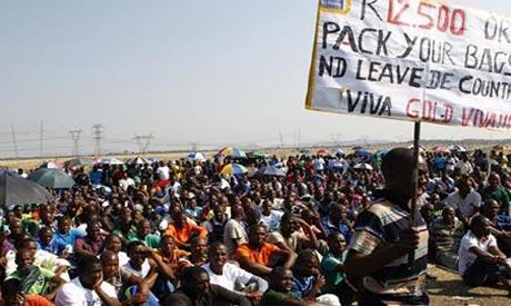 SA mine strikes