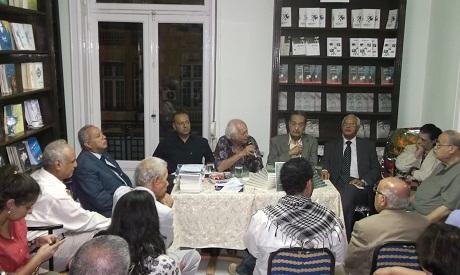 Samir Amin during book discussion