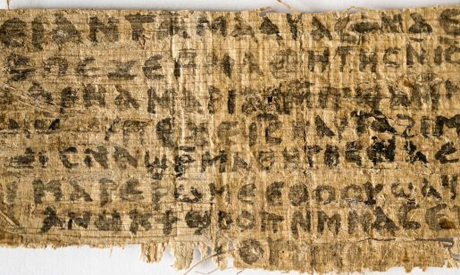 divinity professor Kren L. king said that this 4th century fragment of a papyrus is the only existin