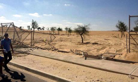 Part of AUC university gate bulldozed early Sunday