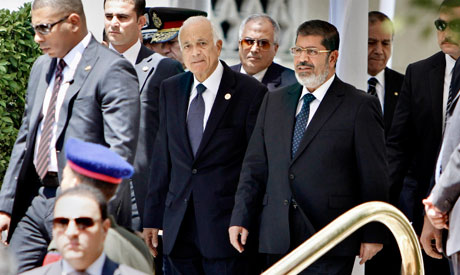 Morsi assures Egypt's responsibility for the Palestinian issue