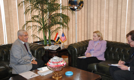 Finance Minister Hegazy and US Ambassador Patterson