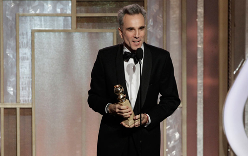 Daniel Day Lewis wins best actor in a drama. Photo: Reuters
