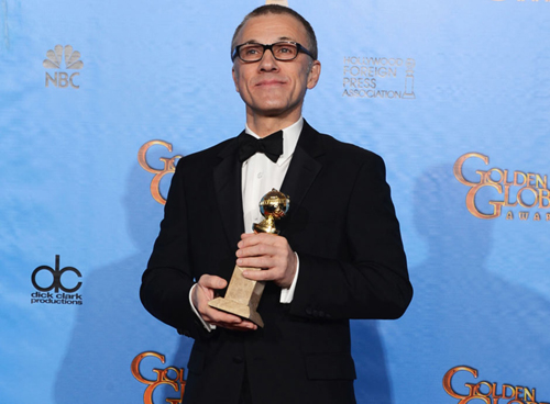 Best supporting actor Christoph Waltz. Photo: AFP