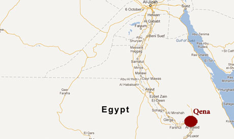 Violence Erupts After Muslim Protesters Attack Upper Egypt Church - Map of upper egypt