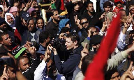 Photographer Tim Hetherington, in Libya. Photo: Reuters