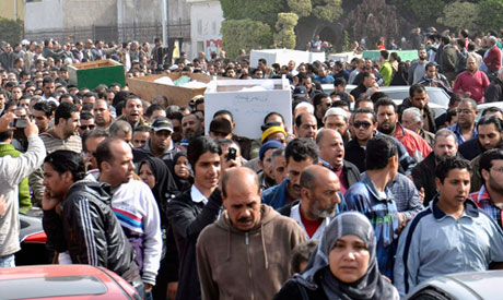 One dead in attack on mass funeral in Port Said