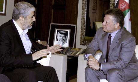 Meshaal-King Abdullah meeting