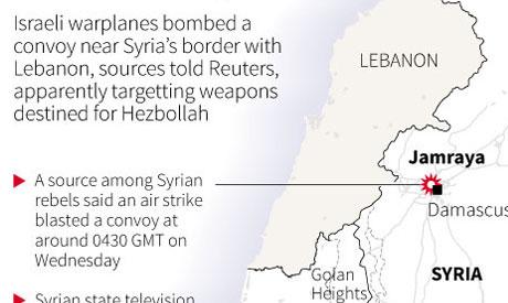 Map locating the Syrian town Jamraya
