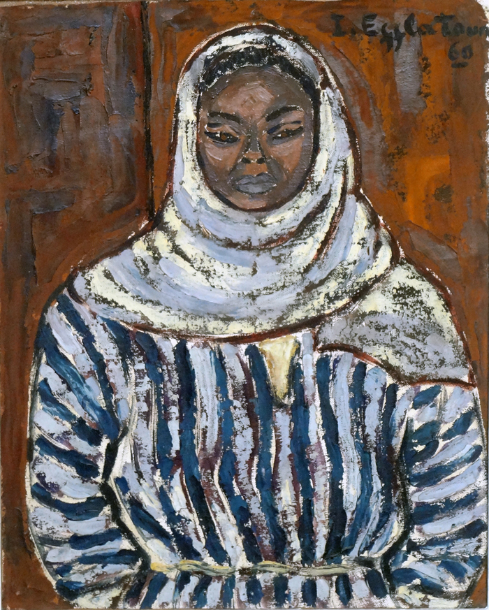 Portrait of a Prisoner by Inji Efflatoun, 1960