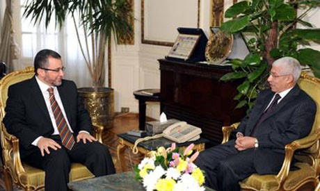 PM Qandil meeting with El-Morsi Hegazy