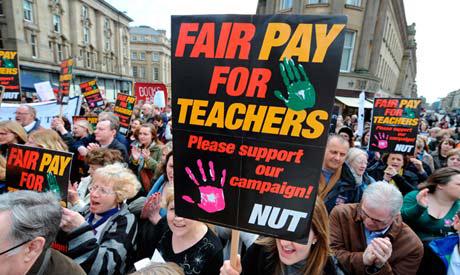 England teachers strikes