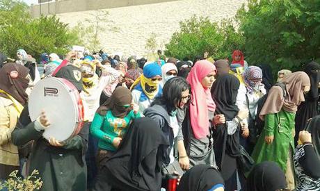 Protests in Al Azhar University in Cairo