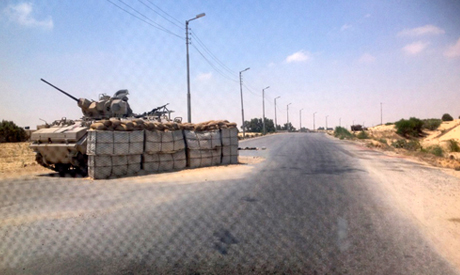 army check point in North Sinai
