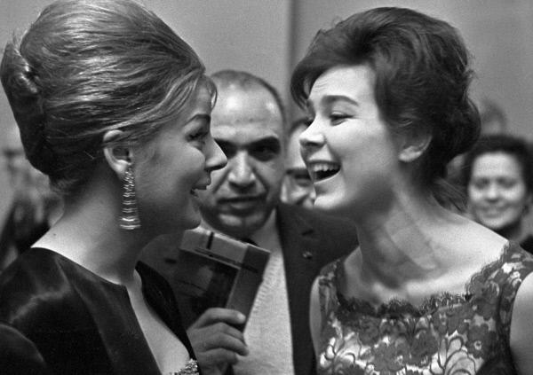 Soviet actress Larisa Golubkina and  Egyptian actress Nadia Lutfi