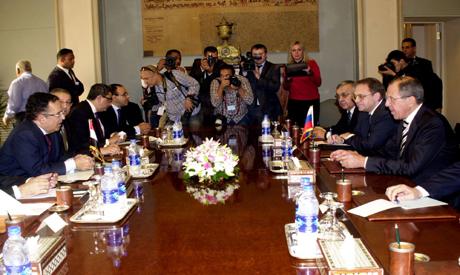 Fahmy and Lavrov held talks