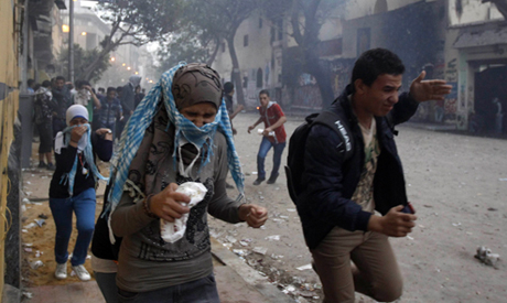clashes at Mohamed Mahmoud street