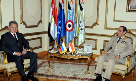General Abdel Fattah El-Sisi and Russian defence minister Sergei Shoygu