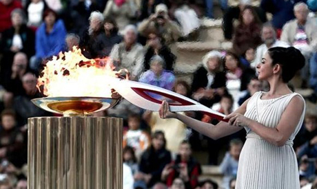 Olympic torch of the Sochi 2014 Winter Games
