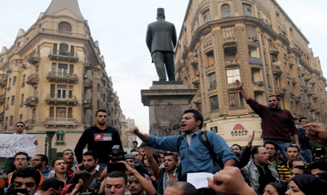 Protesters in Talaat Harb