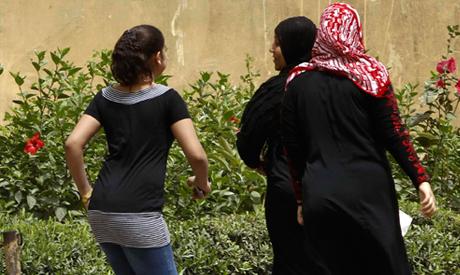 Egyptian women on a street in Cairo