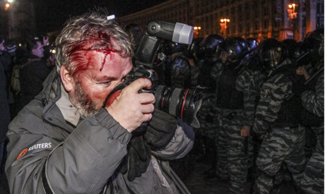 Wounded Reuters photographer