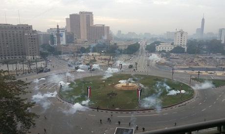 Teargas in Tahrir