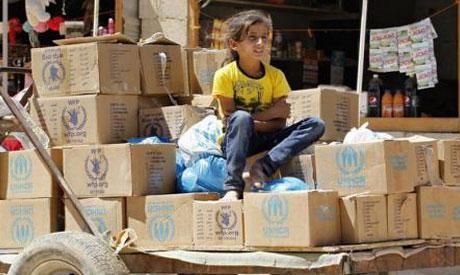 A Syrian refugee girl