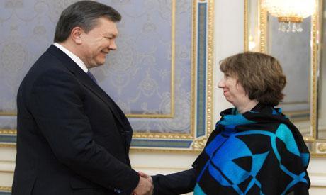 Viktor Yanukovych, Catherine Ashton