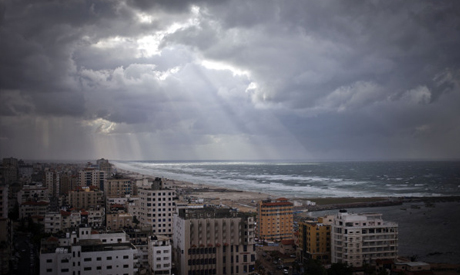 A general view of the beach in Gaza City