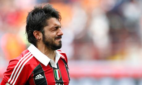 AC Milan midfielder Gennaro Gattuso