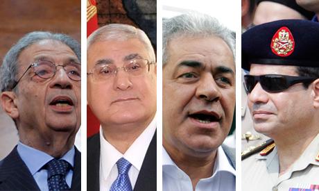 Moussa, Mansour, Sabbahi anf El-Sisi