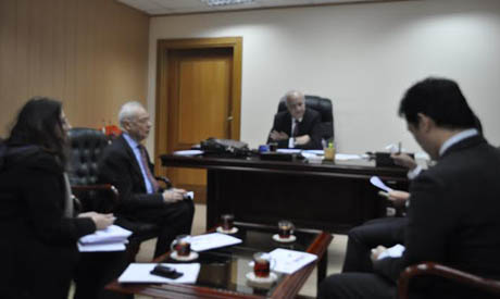 Ibrahim with the JICA delegation