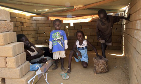 A family in South Sudan
